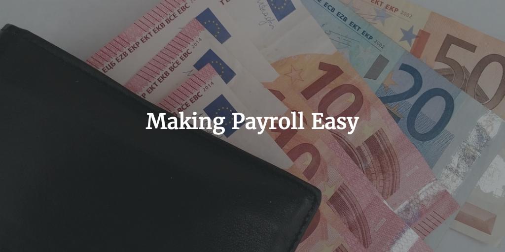 making payroll easy